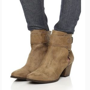 Free People Belleville Distressed Suede Ankle Boot